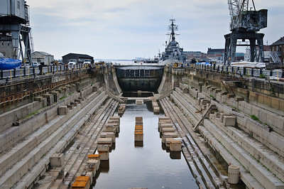 Dry Docks for Navy Ships in Boston July 2009