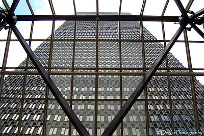 Looking up at the Prudential Tower