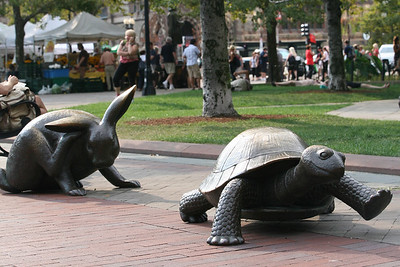 Tortoise and Hare - You Know Who Won the Race Copley Square, Boston