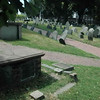 Colonial Graveyard near Old North Church - Cotton Mather grave on L