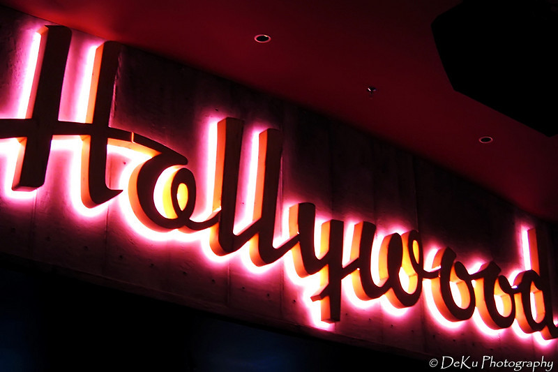Neon sign at the Jillian's party