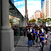 Ipad mania.  Line forms around the block for the 5PM release of the IPad.