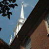 The Old North church in Boston, where the lanterns shown forth for liberty
