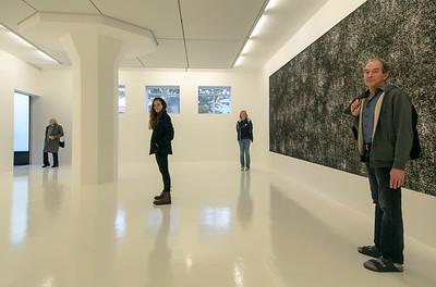 Carol, Hannah, Theresa, and John in a one-painting room