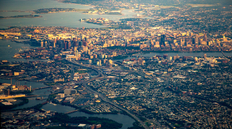 We reach Boston.  I can just make out MIT in the middle right side.