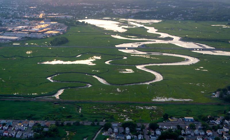 Strange marshes north of Boston
