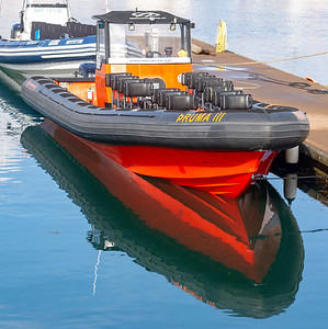 Tour boat Thruma III with its wild red mouth