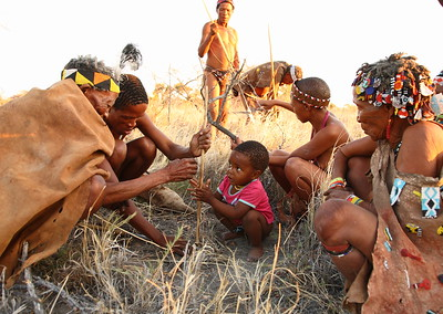 San People in Botswana
