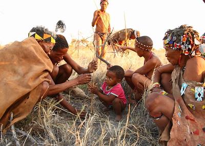 San People in Botswana