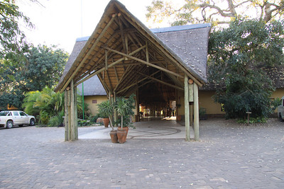 Entrance to Chobe Safari Lodge