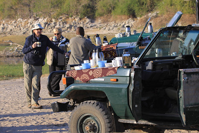 Tea break on a Chobe game drive