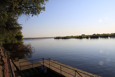 Chobe River from the deck of the Chobe Safari Lodge