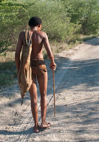 Bushman Xhega leading us on a trek
