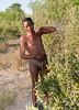 Zammi, one of the few true bushmen left in Botswana.