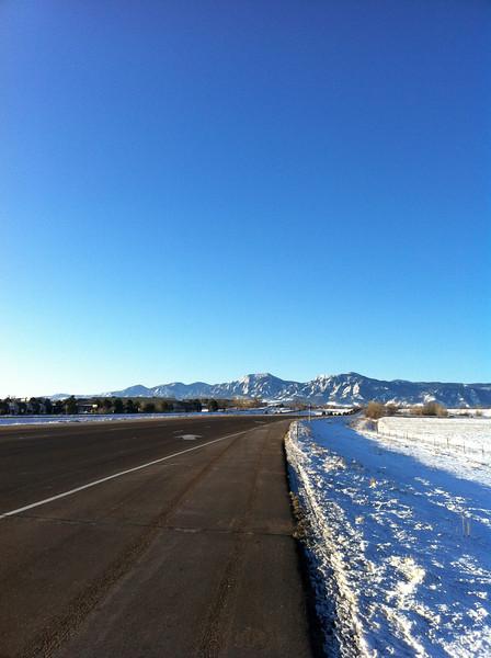Diagonal Highway in Boulder, CO.