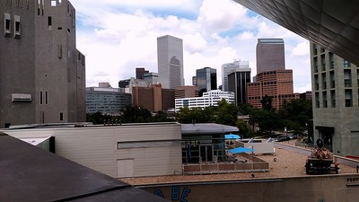 Denver skyline from the architecture deck at the Denver Art Museum