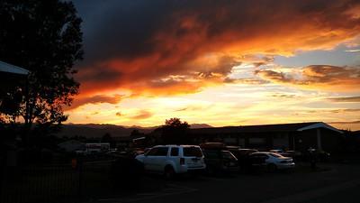 Sundown over Boulder, Sunday, 31July17