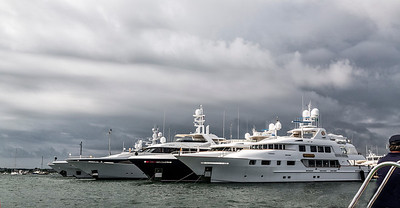 Some fancy yachts harbored in Nantucket