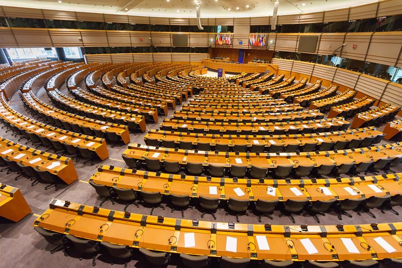 Im Sitzungssaal des EU Parlaments