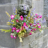 A lovely hanging basket arrangement outside the church.