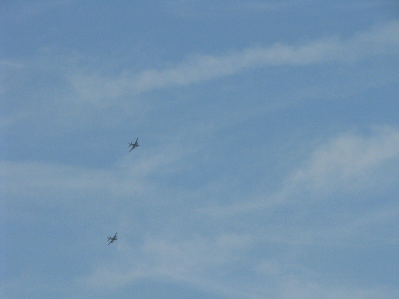 High flying planes from near by military base.