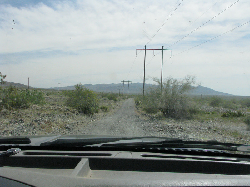 Bradshaw Trail runs parallel with the power poles for several miles.