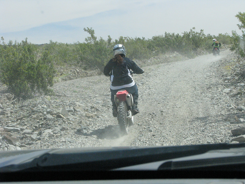 Offroaders catching up with us and soon we are in their dust.