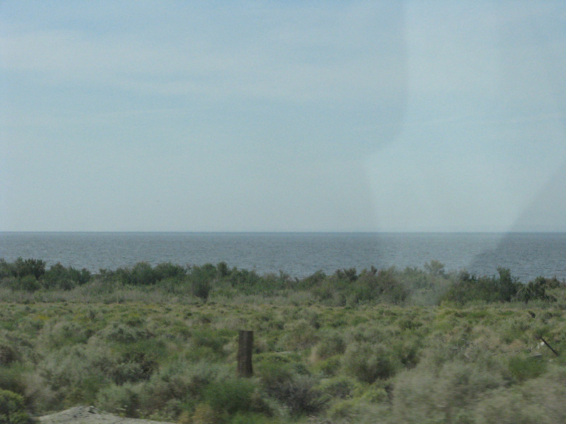 Salton Sea is sighted, our turn off isn't far from here.