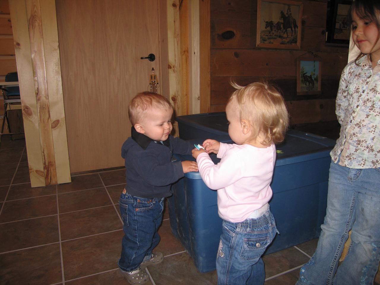 Owen making some friends