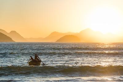 Sailing into the sun - Copacabana Beach - Rio de Janeiro - Brazil