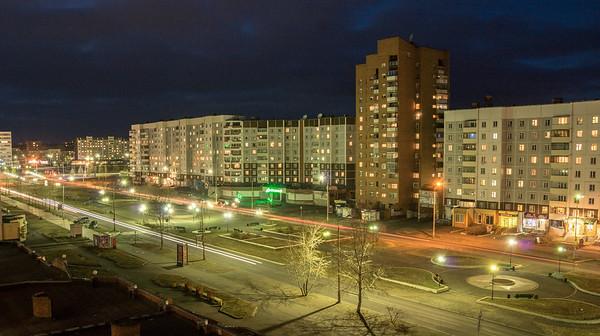 Улица Советская из окна 6 этажа бывшего детского мира