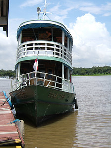 Day 2 - Manaus - Our super slow boat for our Amazon tour.