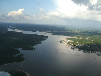 Day 1 - Manaus - View of the Amazon forest from the plane flight in.