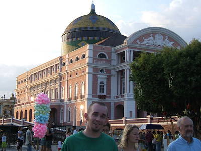 Day 1 - Manaus - The Opera House, cotton candy, and Christian.