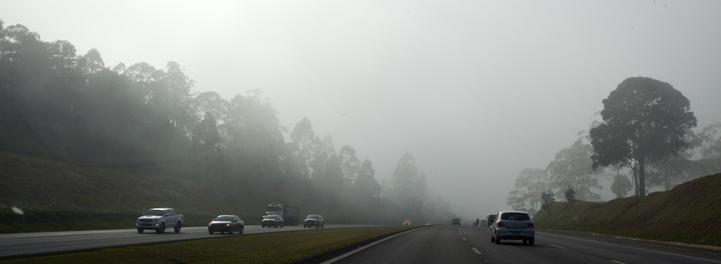 We arrive in Guarulhous Airport in Sao Paulo and get picked up by Gui and start on the drive to Ilhabela.  The fog was quite thick until we went through the tunnel.