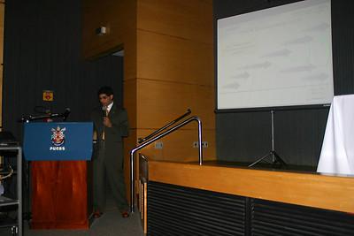 Giving my talk.