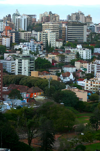 Another view of Porto Alegre.  It shows the big park in the center of the city where a lot of people are out walking.