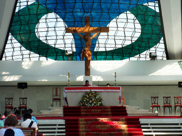 Inside the Metropolitan Cathedral Brasilia