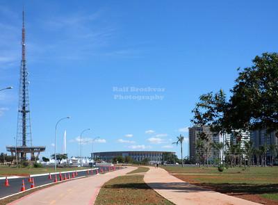 Brasilia TV Tower and National Stadium