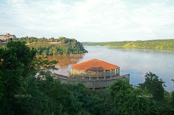 At the merge of the  Iguaçu and Paraná rivers