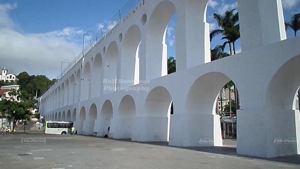 Carioca Aqueduct in the center of Rio de Janeiro