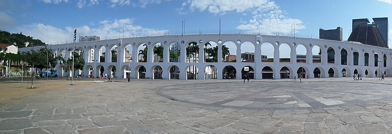 Carioca Aqueduct in the centre of Rio de Janeiro
