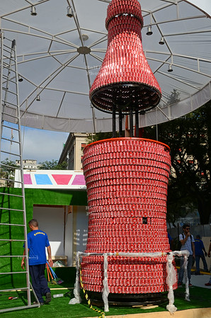 Preparations for the FIFA Fan Fest in Sao Paulo
