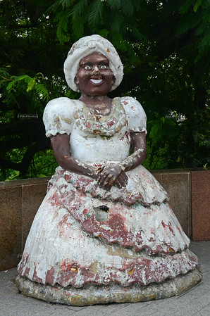 "Statue of a ""Baiana"" in Salvador"