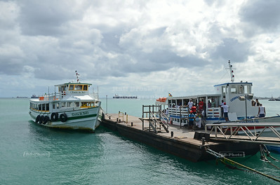 Ferry pier in Salvador