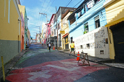Painted road in Salvador