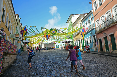 The Pelourinho neighborhood in Salvador, Brazil