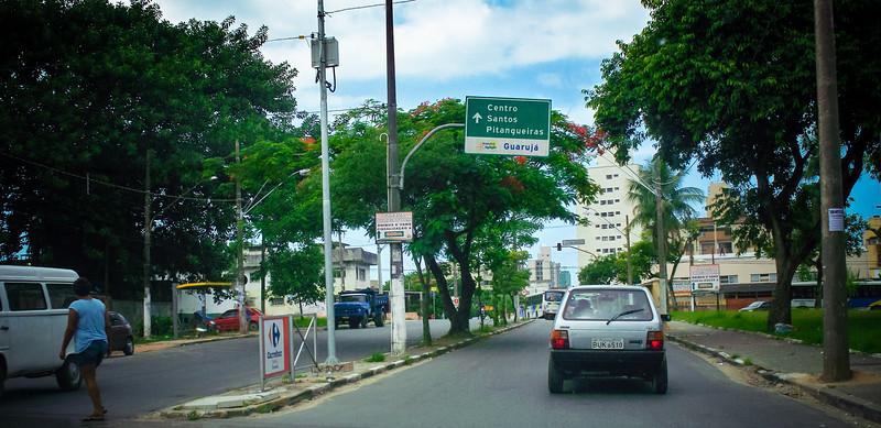 Arriving at Guarujá, Brazil