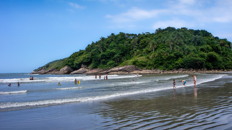 Beach at Guarujá