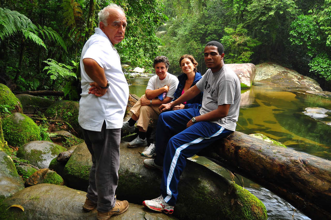My father, mother, sister, and brother-in-law at the falls.